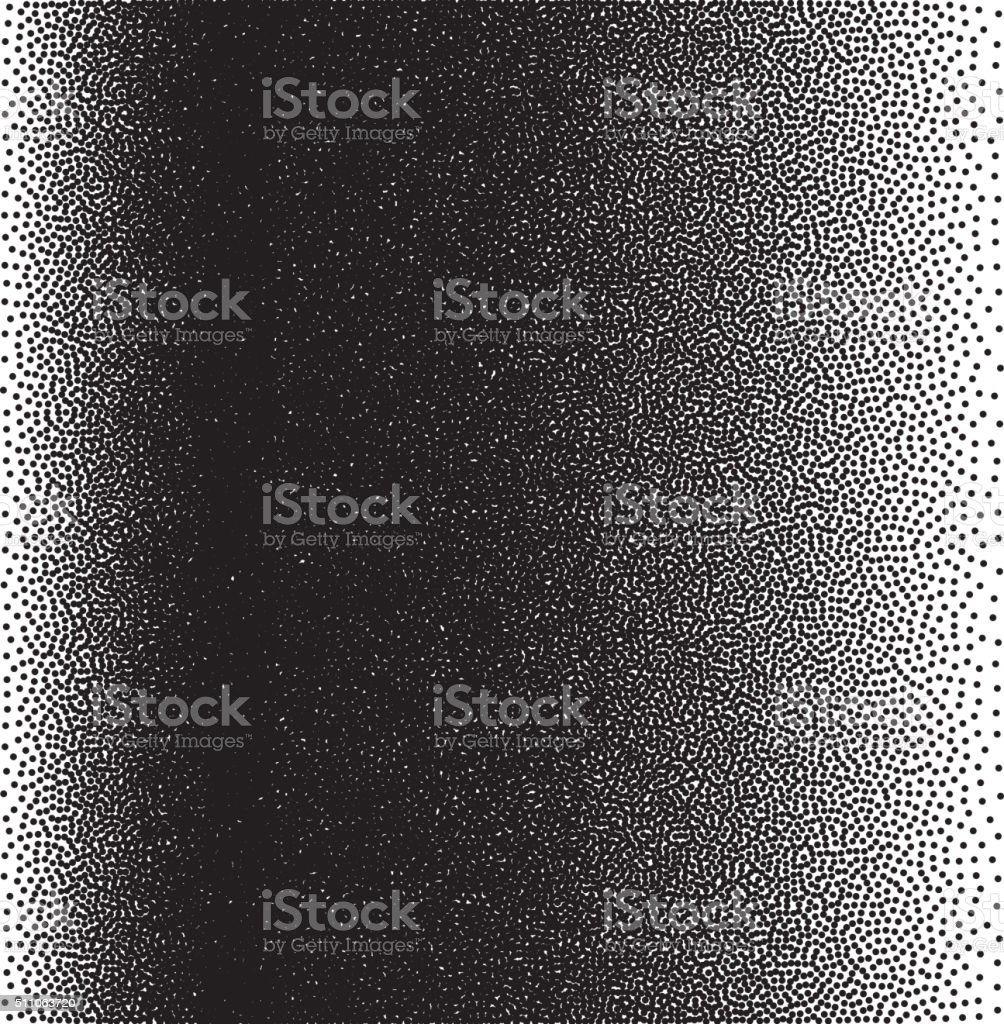 Stochastic raster halftone gradient print vector art illustration