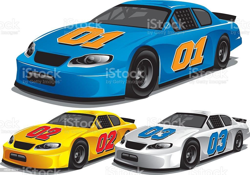 Stock Car Racing vector art illustration