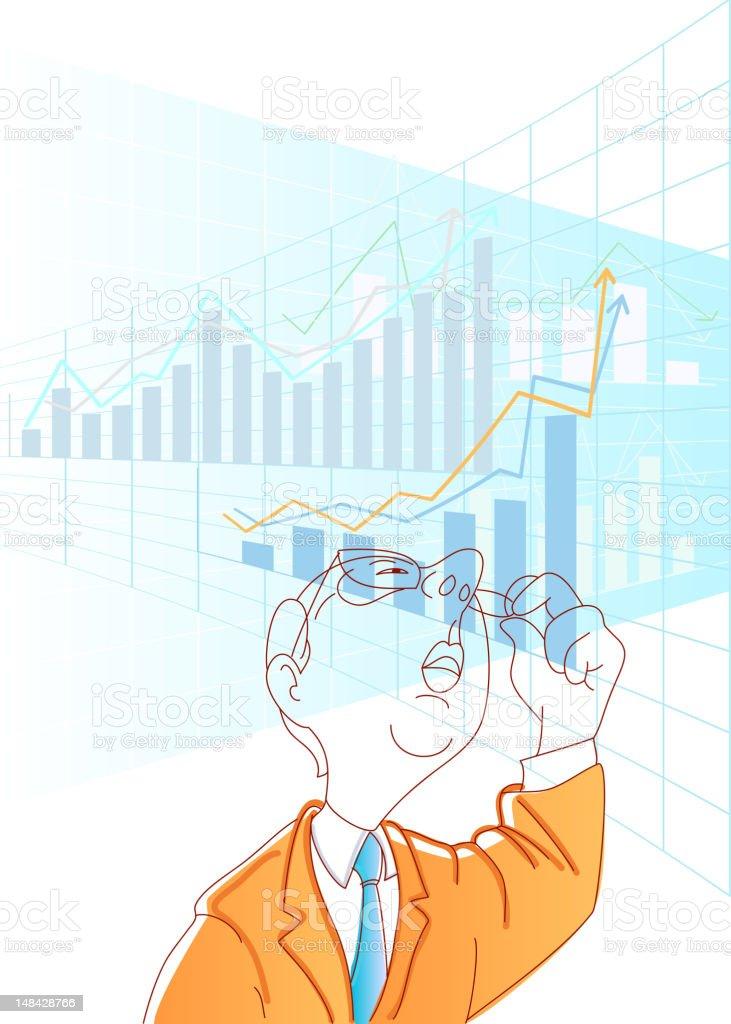 Stock Exchange Broker royalty-free stock vector art