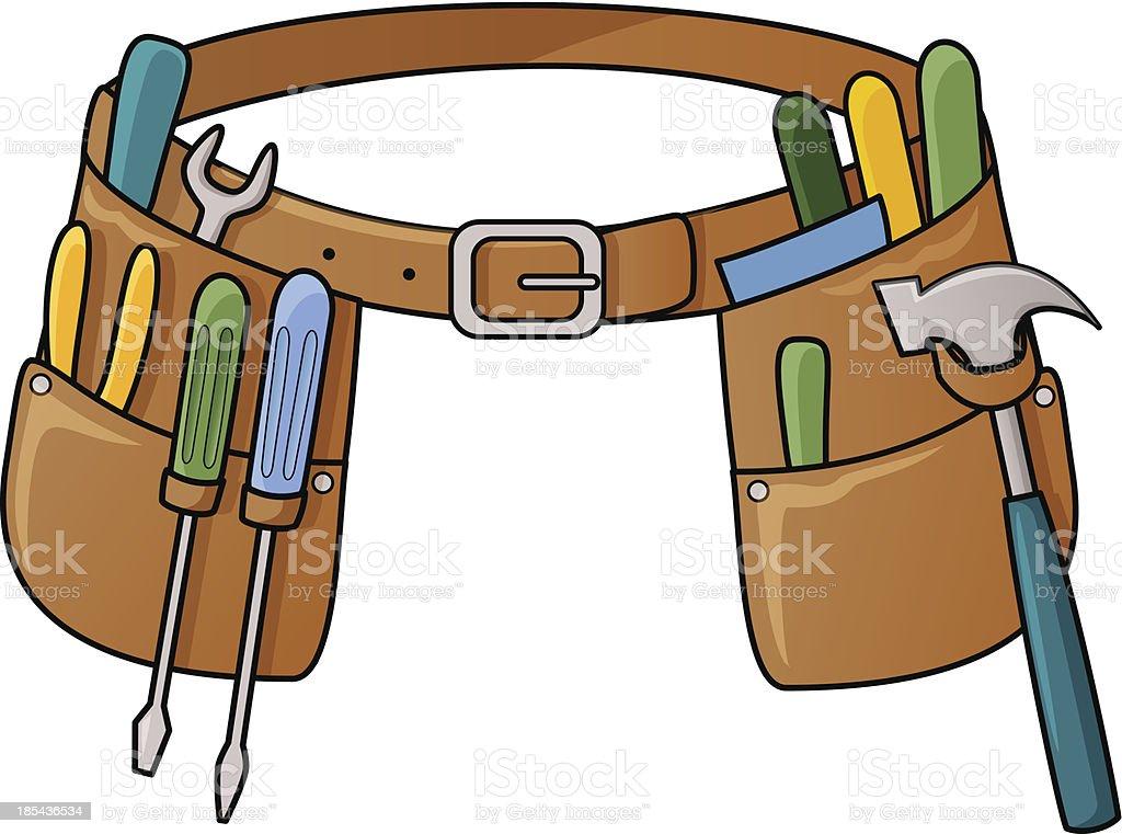 Stock illustration of tool belt vector art illustration