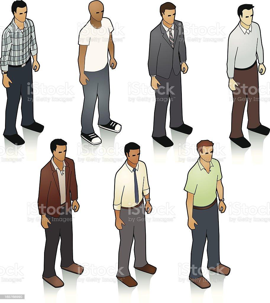 Stock Isometric Men vector art illustration