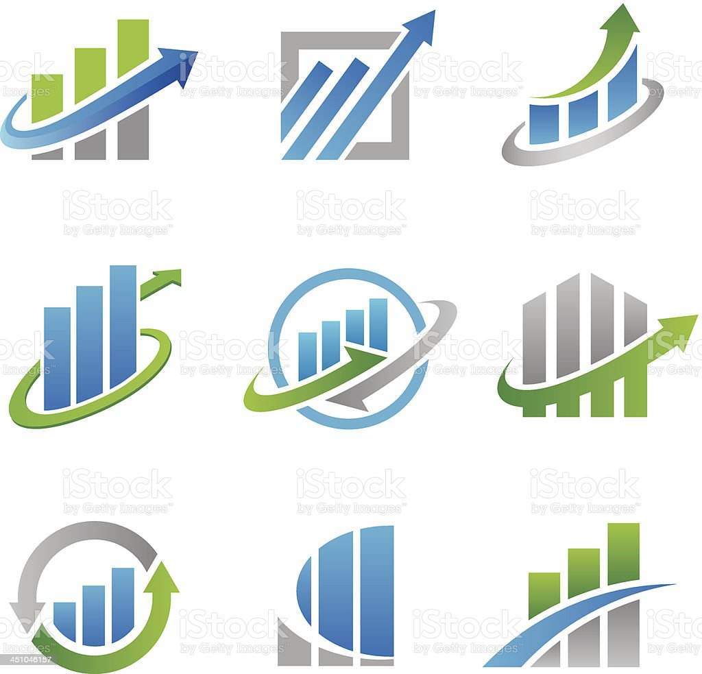 Stock logos and icons vector art illustration