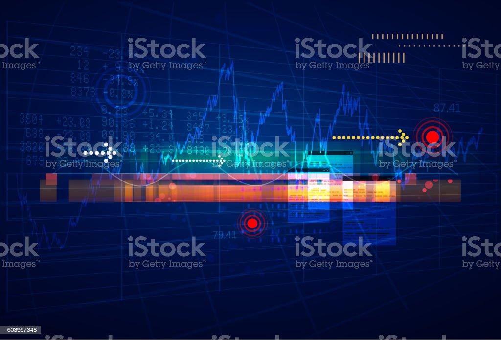 Stock Market Analysis Abstract vector art illustration