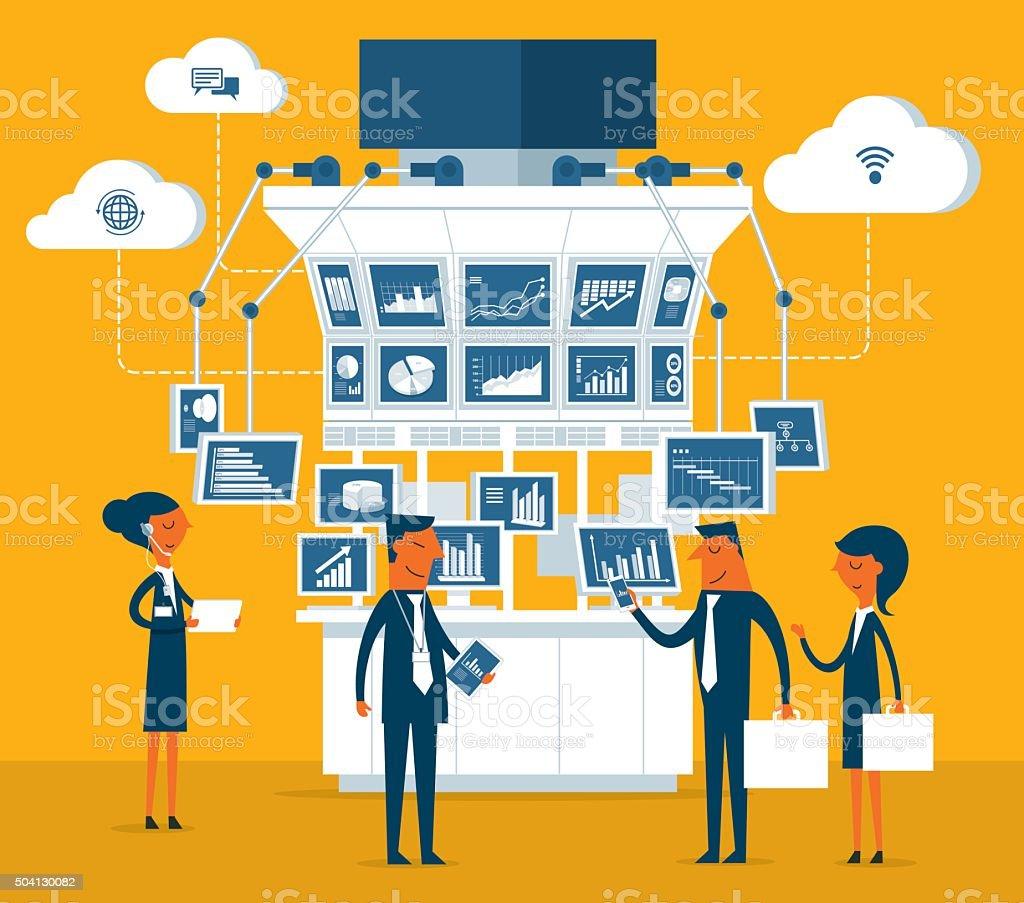 Stock Market and Traders vector art illustration