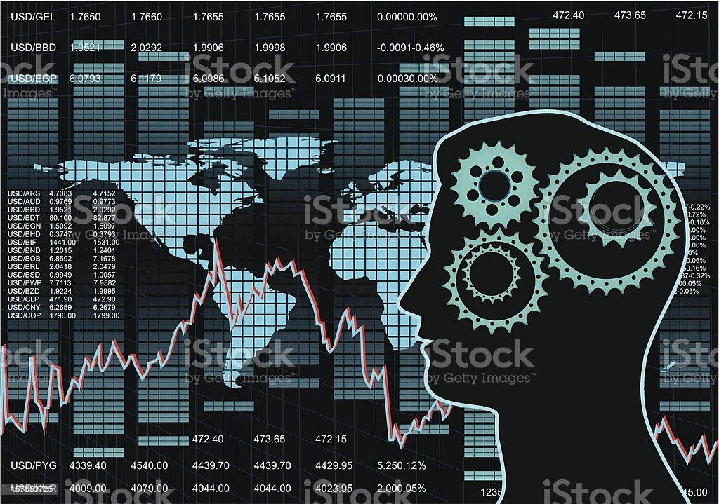 Stock Market Background vector art illustration