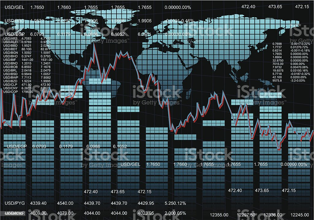 Stock Market Background vector art illustration