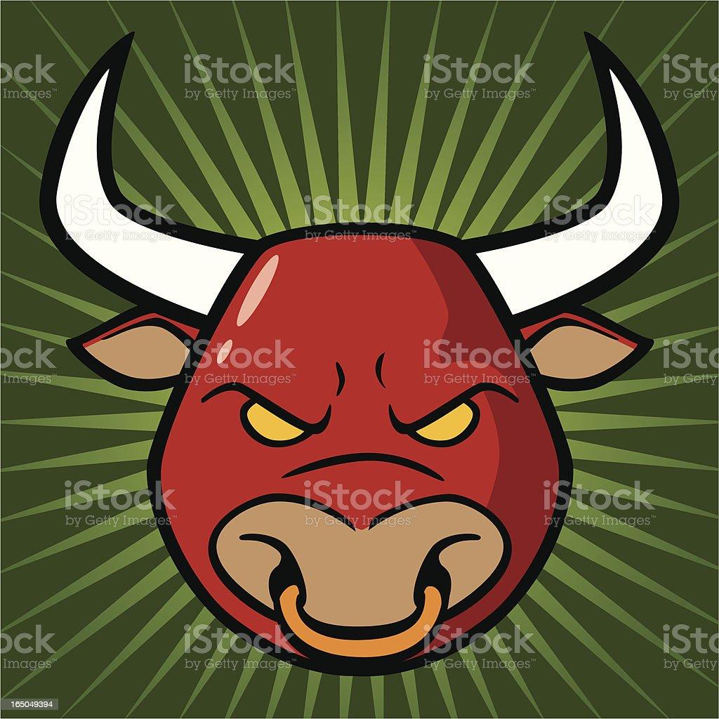 Stock Market Bull vector art illustration