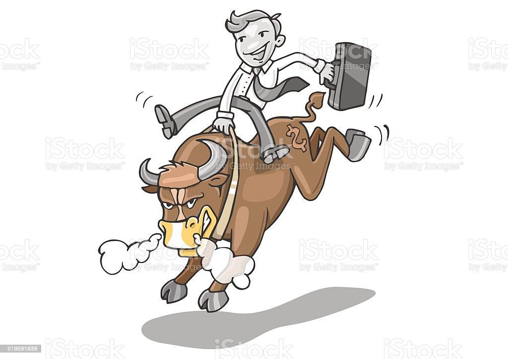Marché boursier bull stock vecteur libres de droits libre de droits