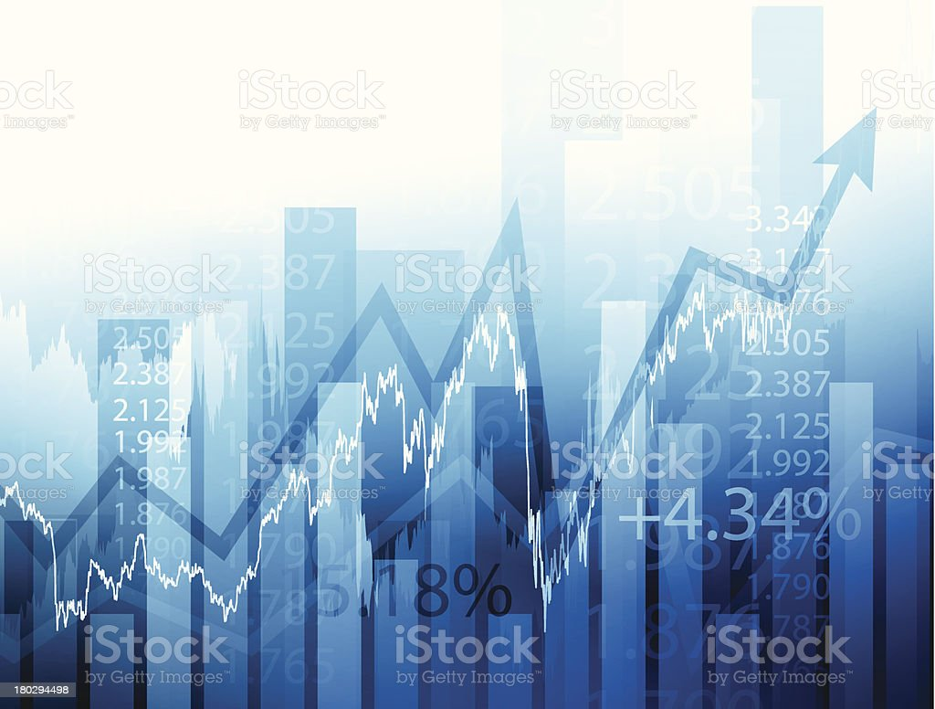 Stock market chart royalty-free stock vector art