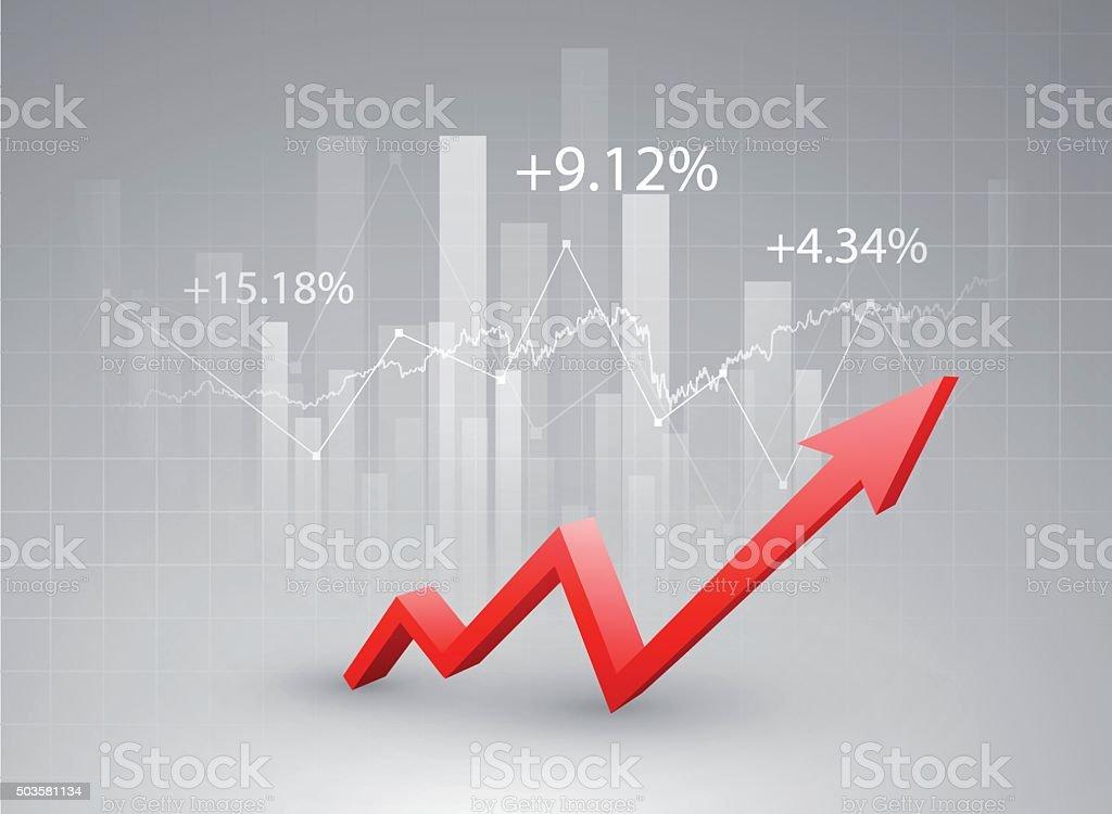 Stock market chart vector art illustration