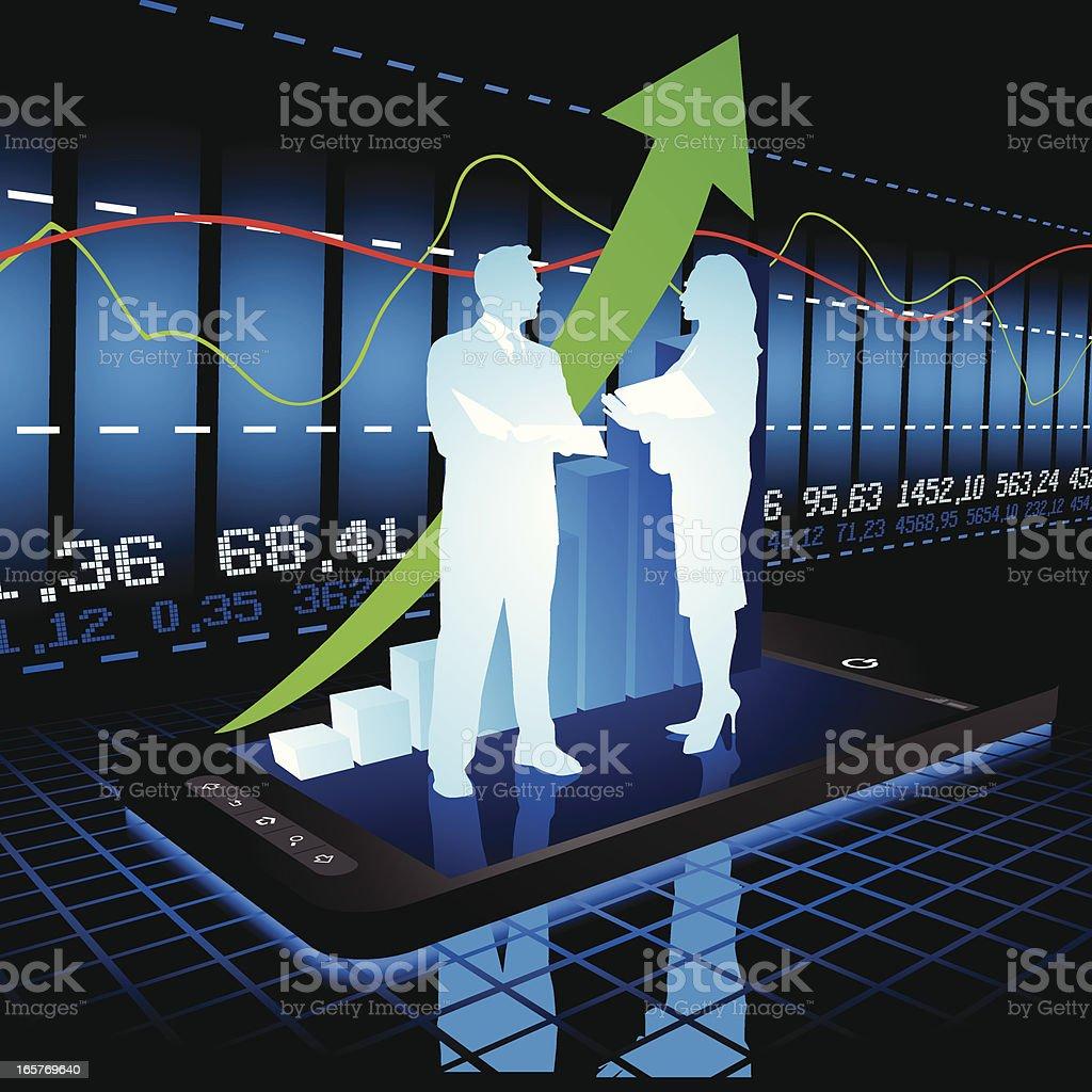 Stock market concept vector art illustration