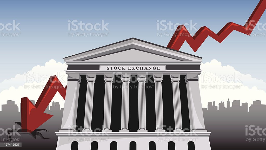 Stock Market Crash royalty-free stock vector art