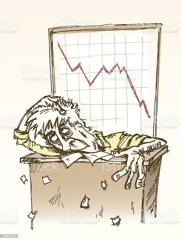 Stock market crash royalty-free stock vector art