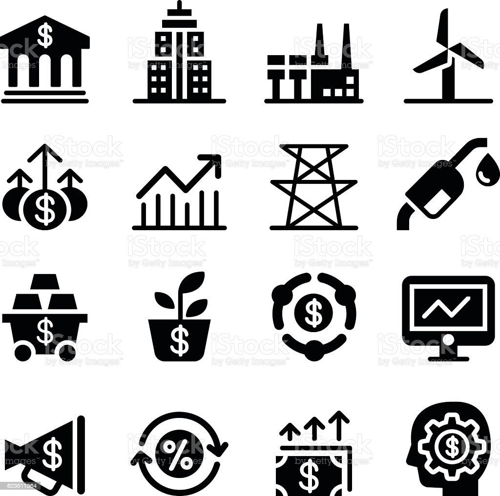 Stock market & Investment icons vector art illustration
