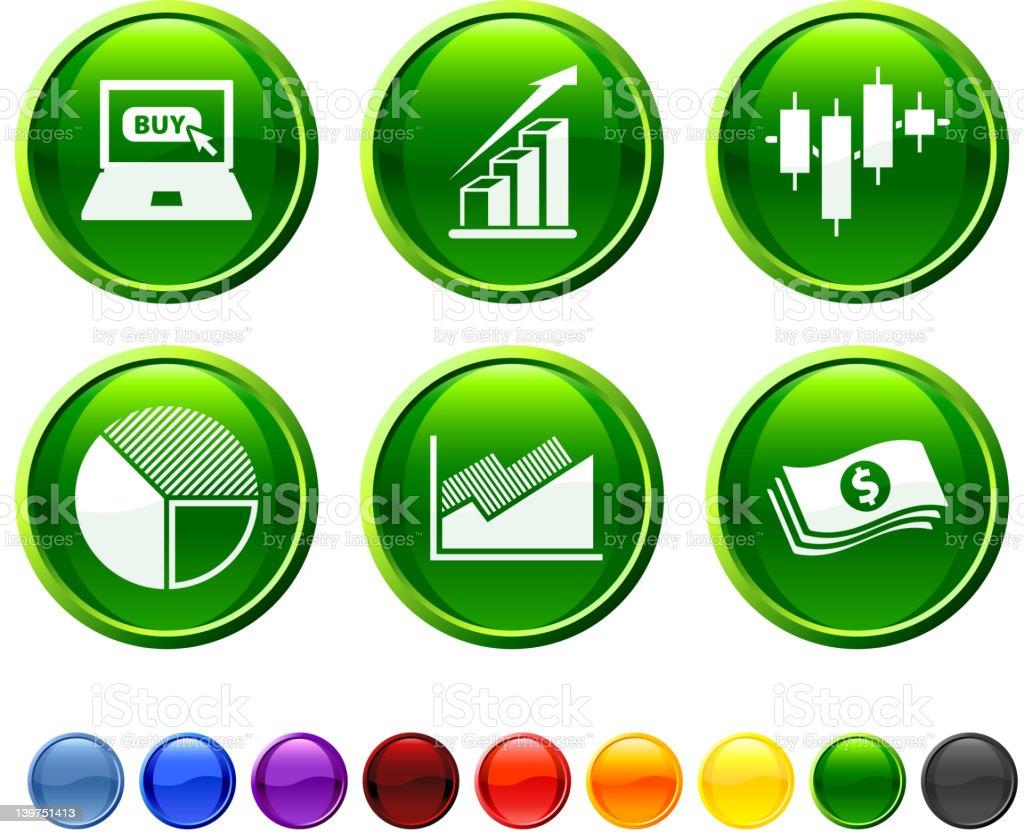 stock market royalty free vector icon set vector art illustration
