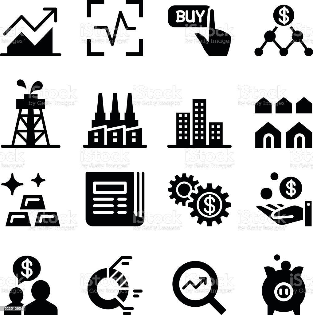 Stock market & Stock exchange icons vector art illustration