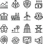 Stock market & Stock exchange icons