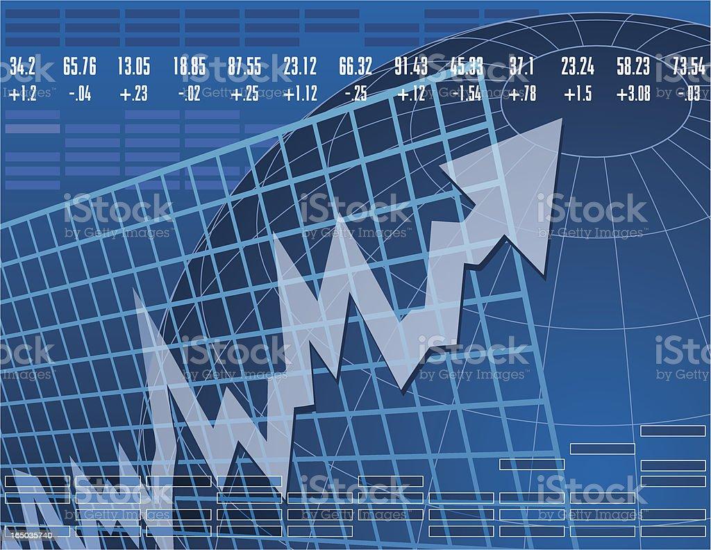 Stock Market Up royalty-free stock vector art
