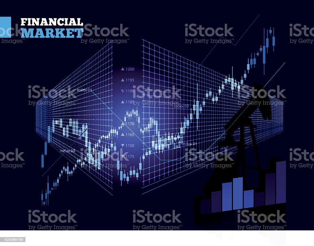 Stock Market Vector Chart vector art illustration