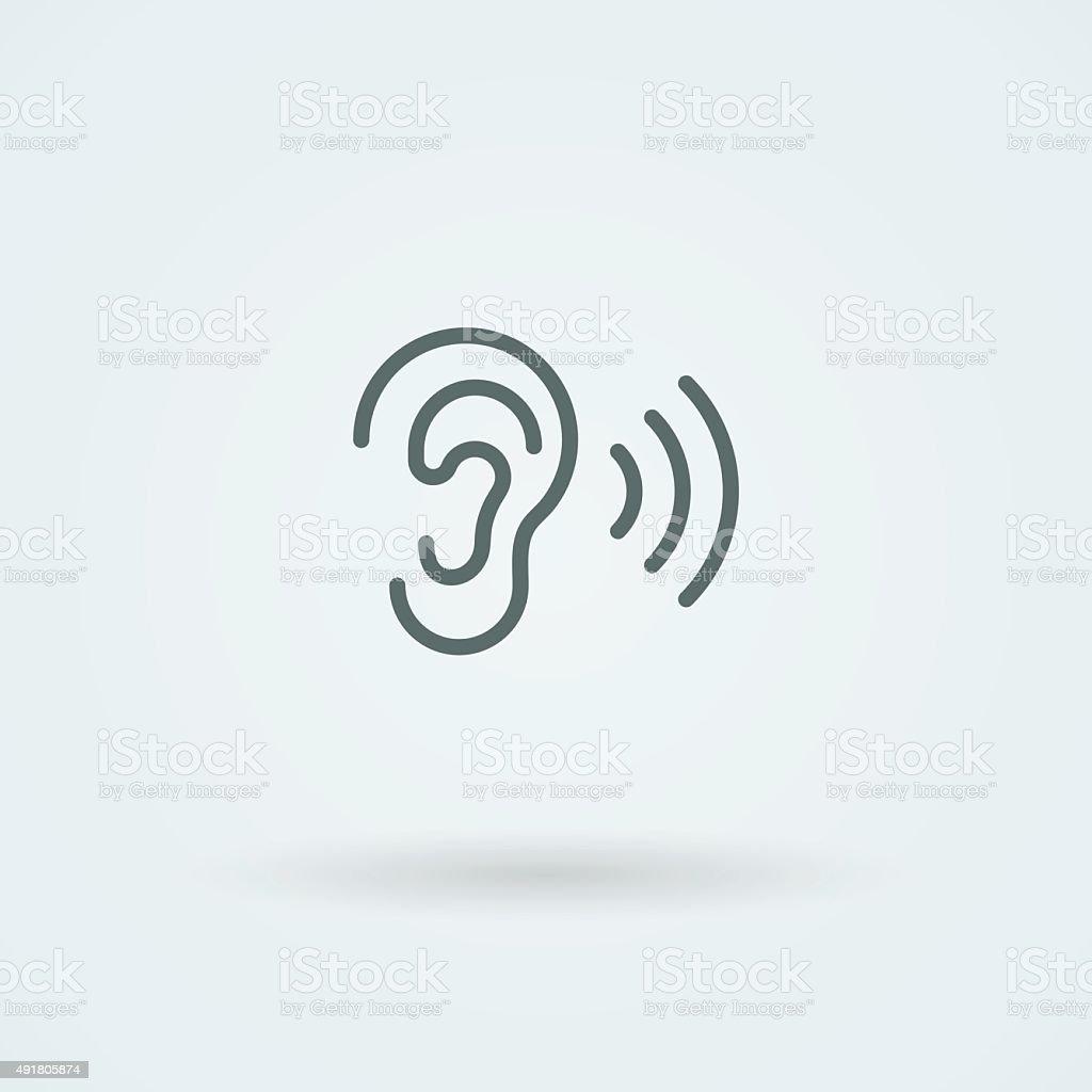Stock minimalist icon ear vector art illustration