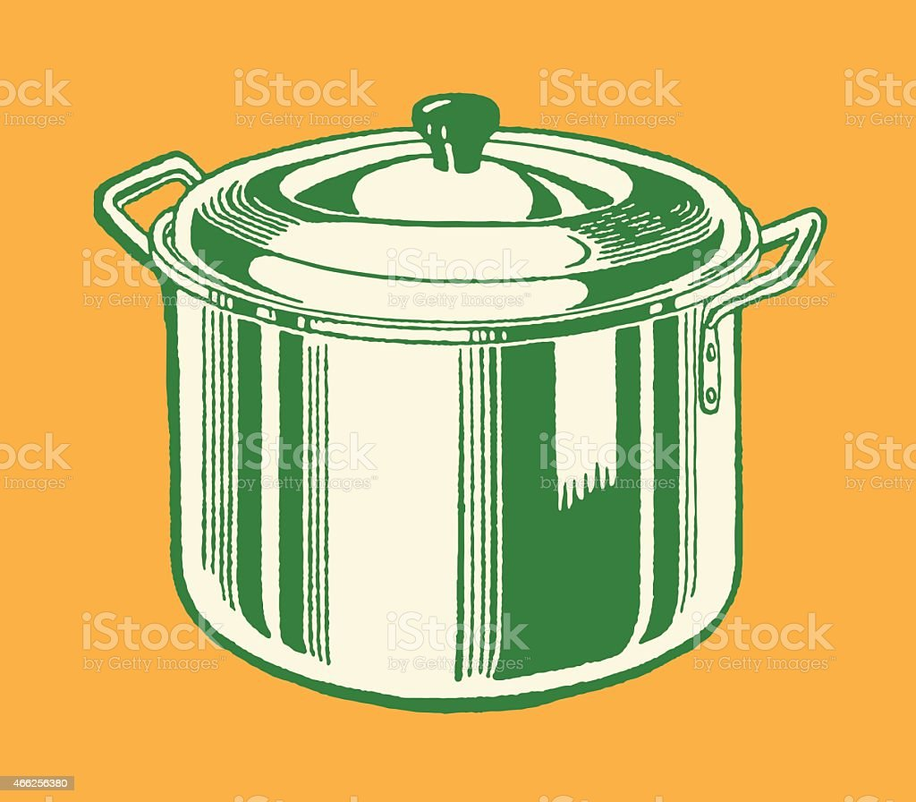 Stock Pot vector art illustration