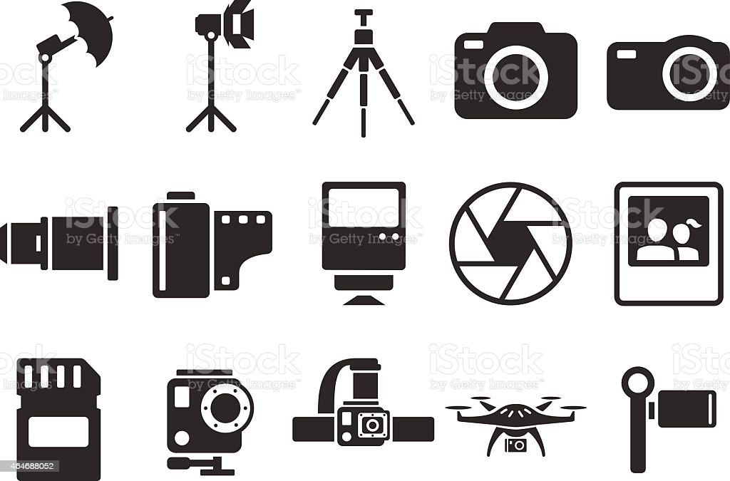 Stock Vector Illustration: camera icons - Illustration vector art illustration