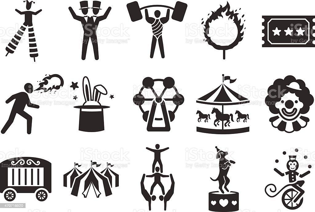 Stock Vector Illustration: Circus icons set 2 vector art illustration