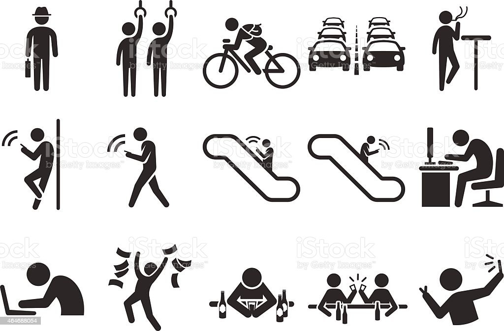 Stock Vector Illustration: City life icons vector art illustration