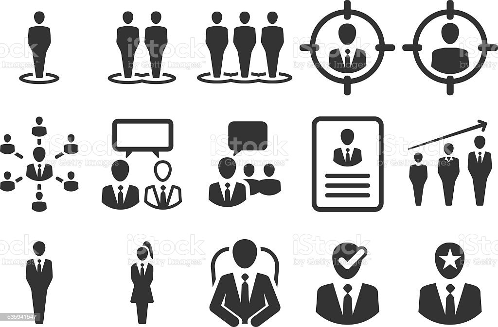 Stock Vector Illustration: Human resource icons vector art illustration