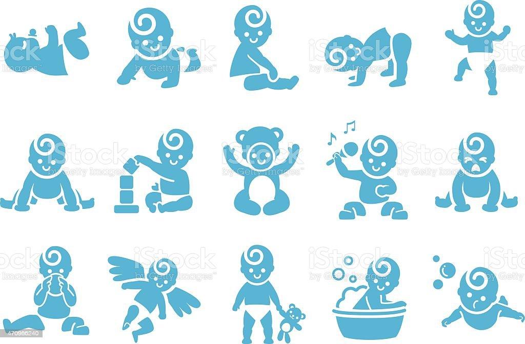 Stock Vector Illustration: Kid icons vector art illustration