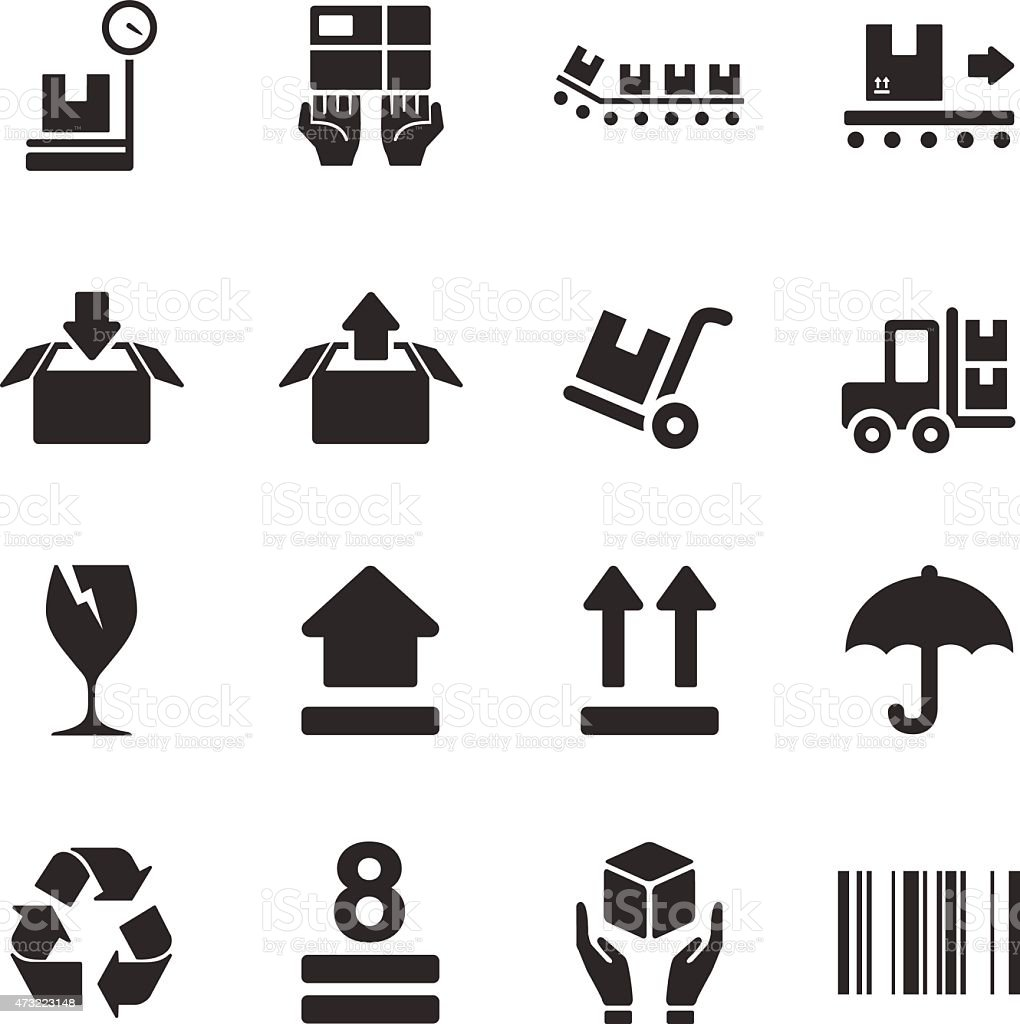 Stock Vector Illustration: Logistic Packing vector art illustration