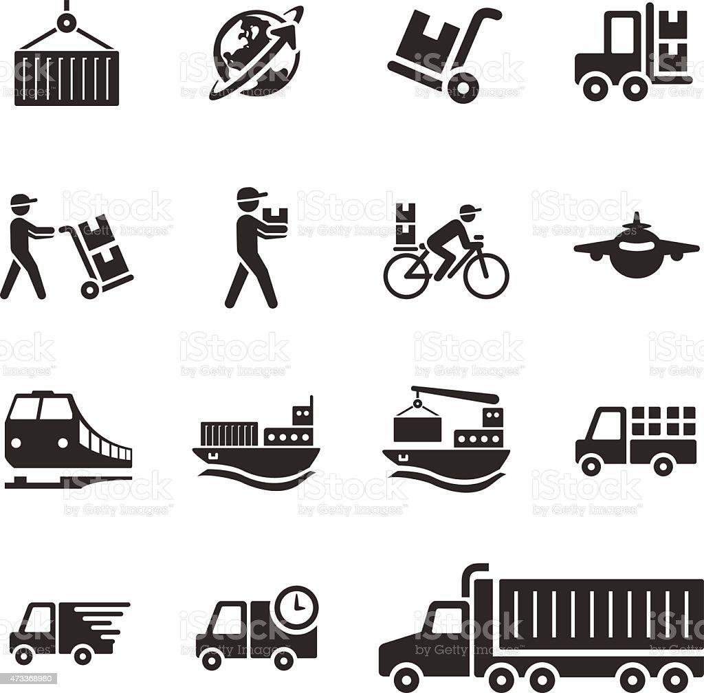 Stock Vector Illustration: Logistics & Transportation vector art illustration