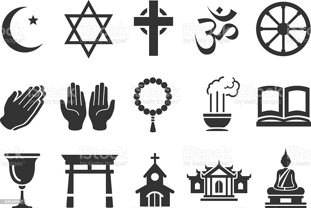 Stock Vector Illustration: Religious icons vector art illustration