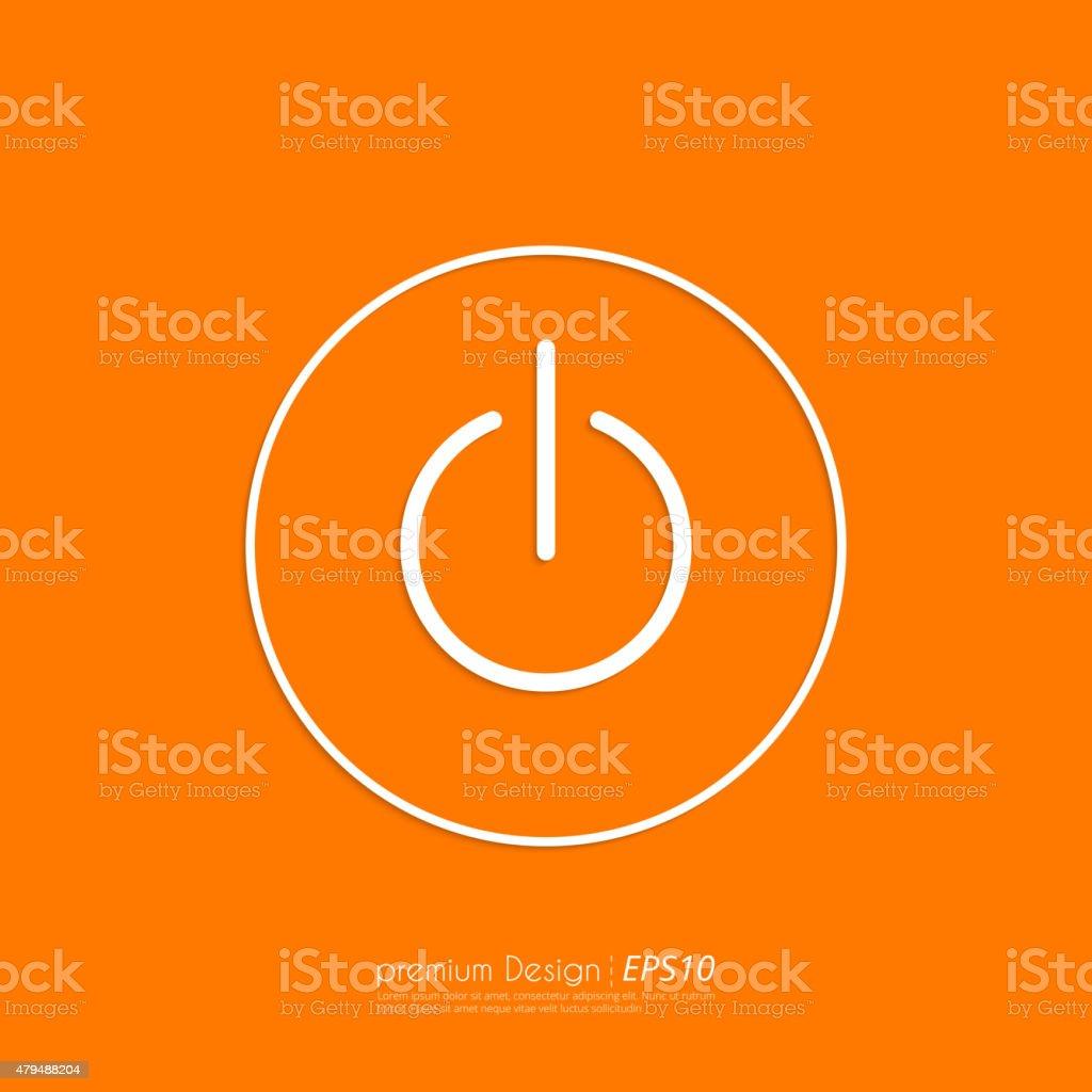 Stock Vector Linear icon power. Flat design vector art illustration