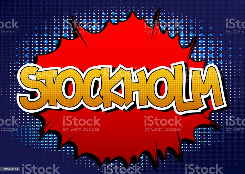 Stockholm - Comic book style word. vector art illustration