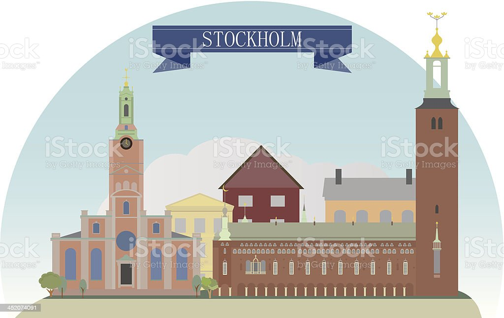 Stockholm royalty-free stock vector art