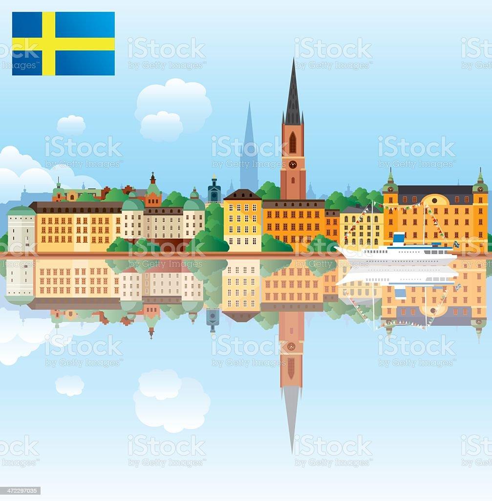Stockholm royalty-free stock vector art