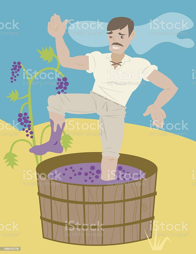 Stomping Grapes royalty-free stock vector art