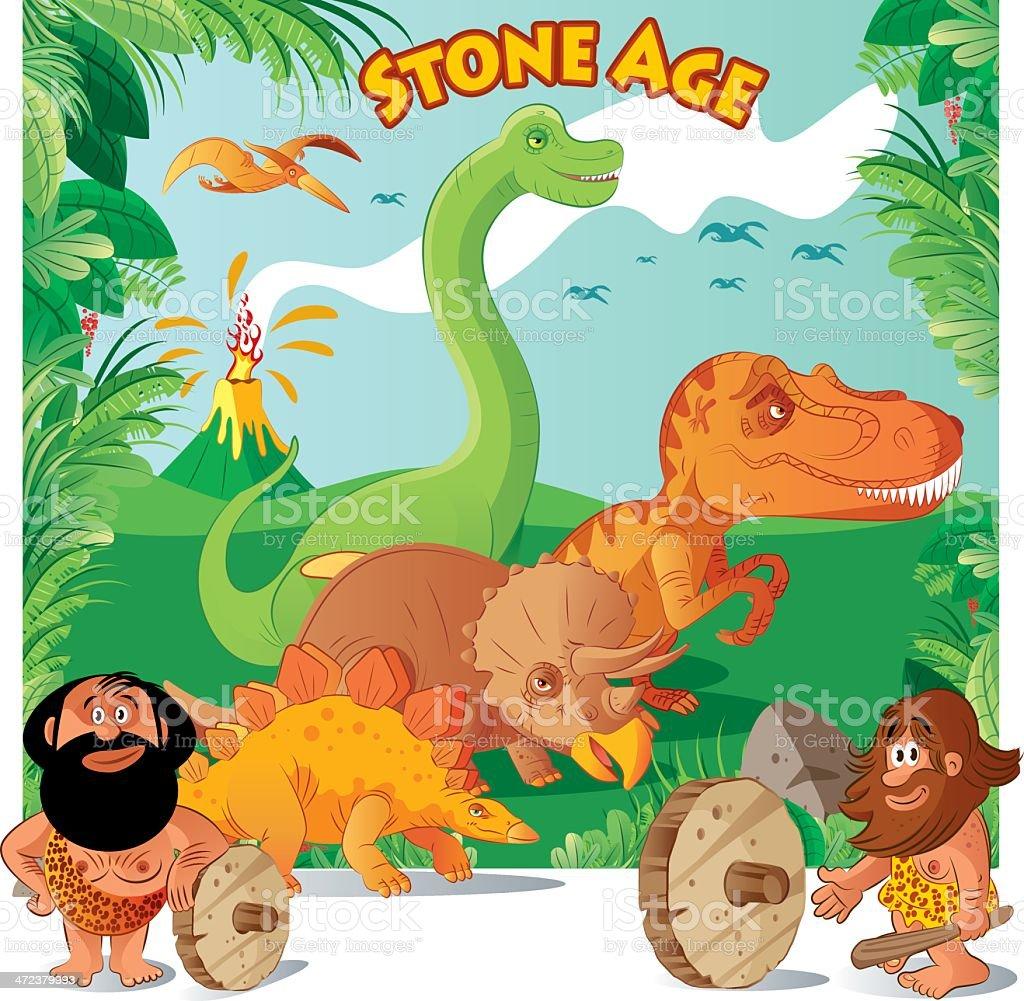 Stone Age vector art illustration