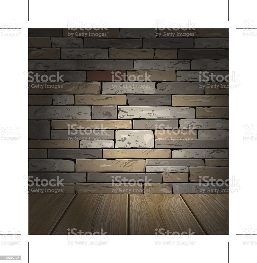Stone brick wall royalty-free stock vector art