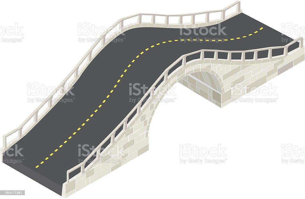 Stone bridge isometric royalty-free stock vector art