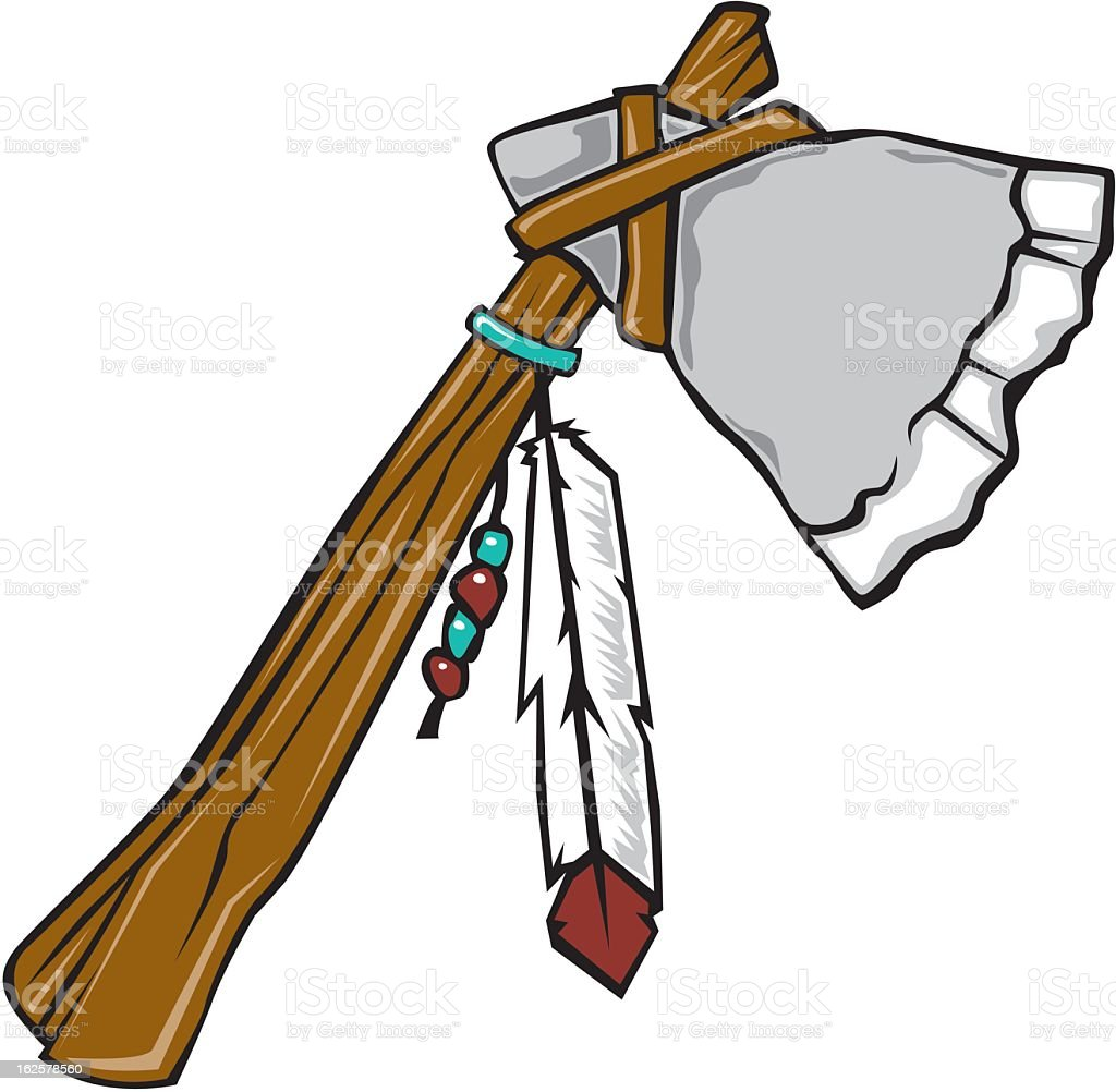 Stone Handaxe royalty-free stock vector art