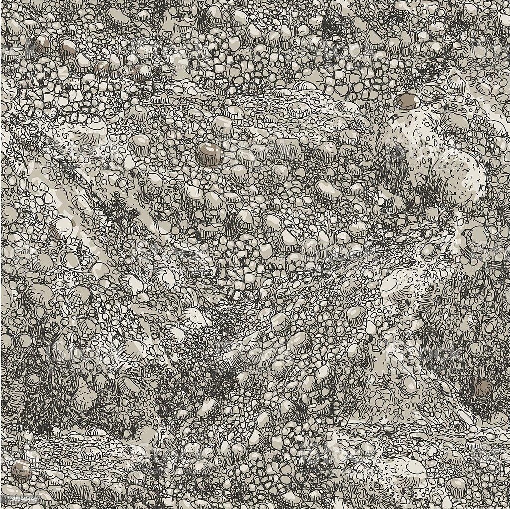 Stone Repeat vector art illustration