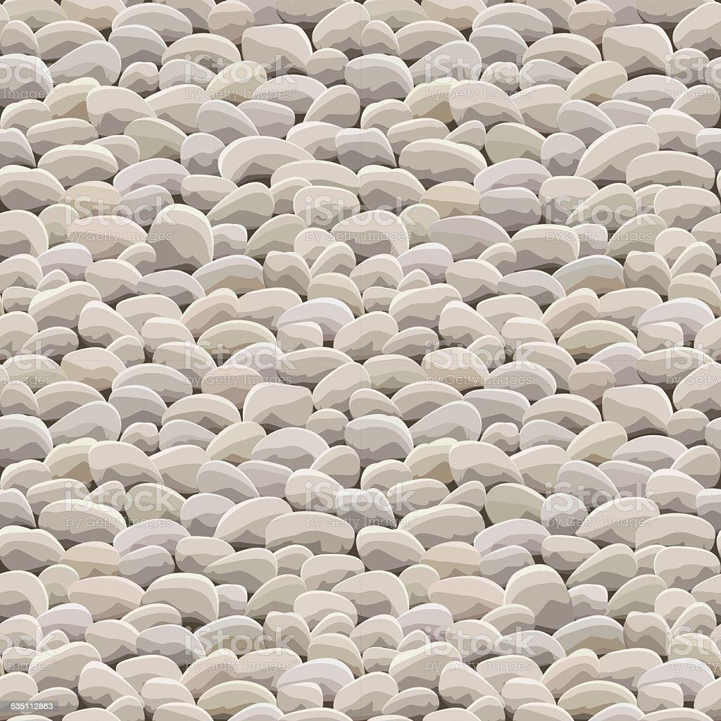 stone rock ground seamless vector art illustration
