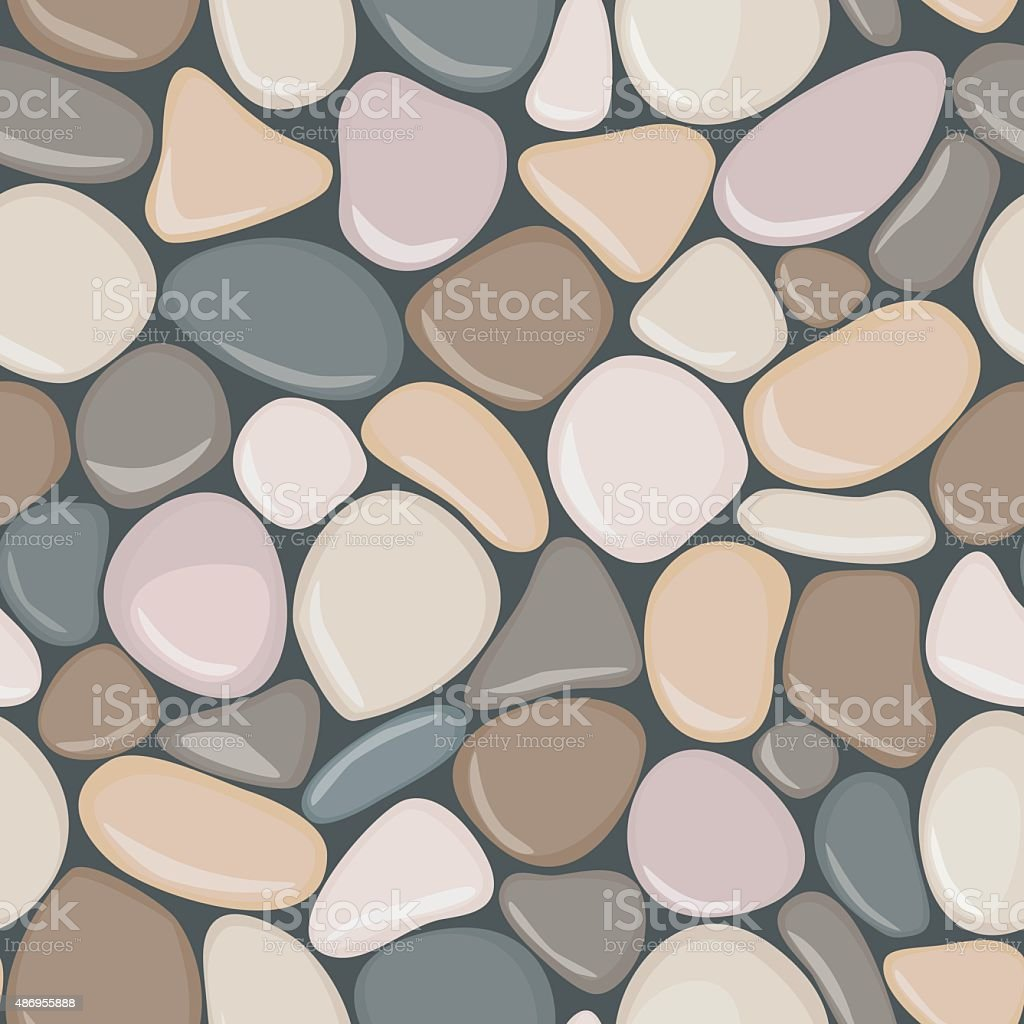 Stone seamless background texture. Pebbles seamless pattern. vector art illustration