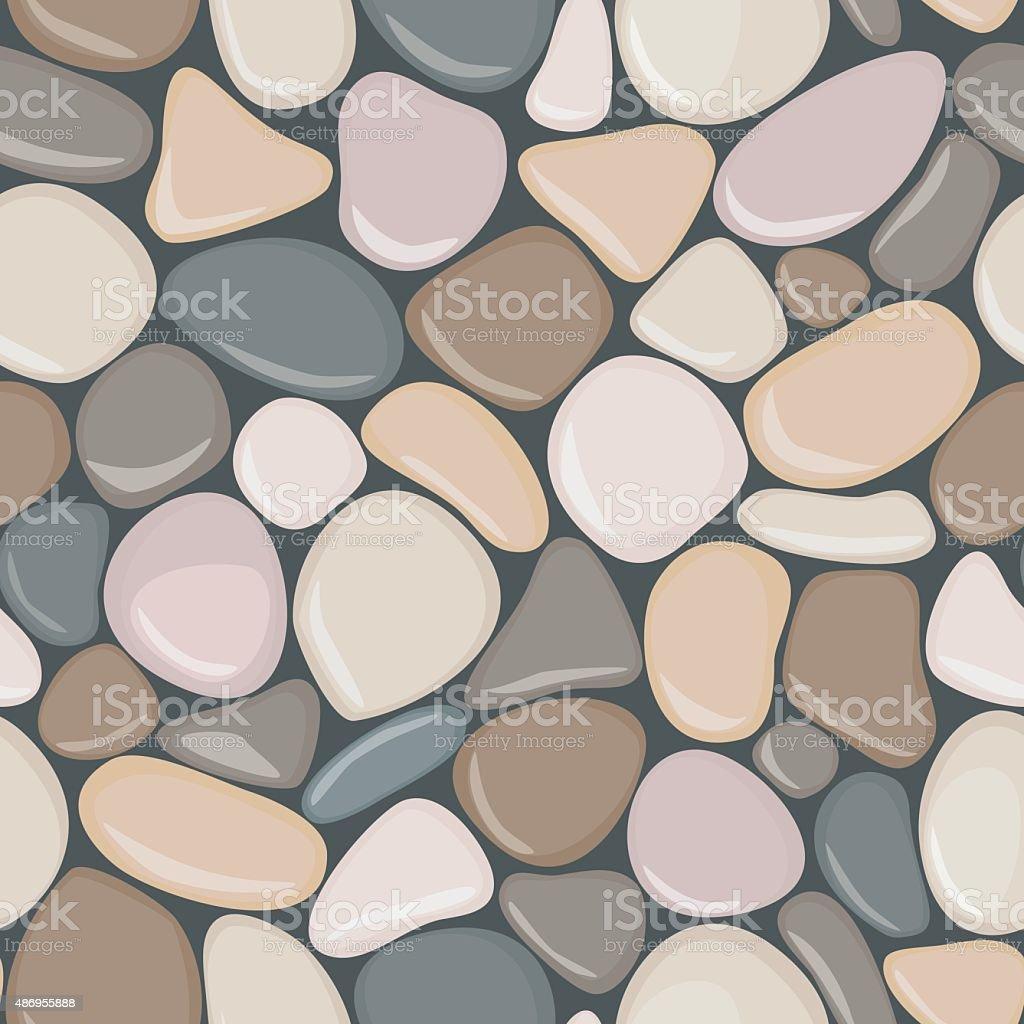 Stone seamless background texture. Pebbles seamless pattern. vector art illustration