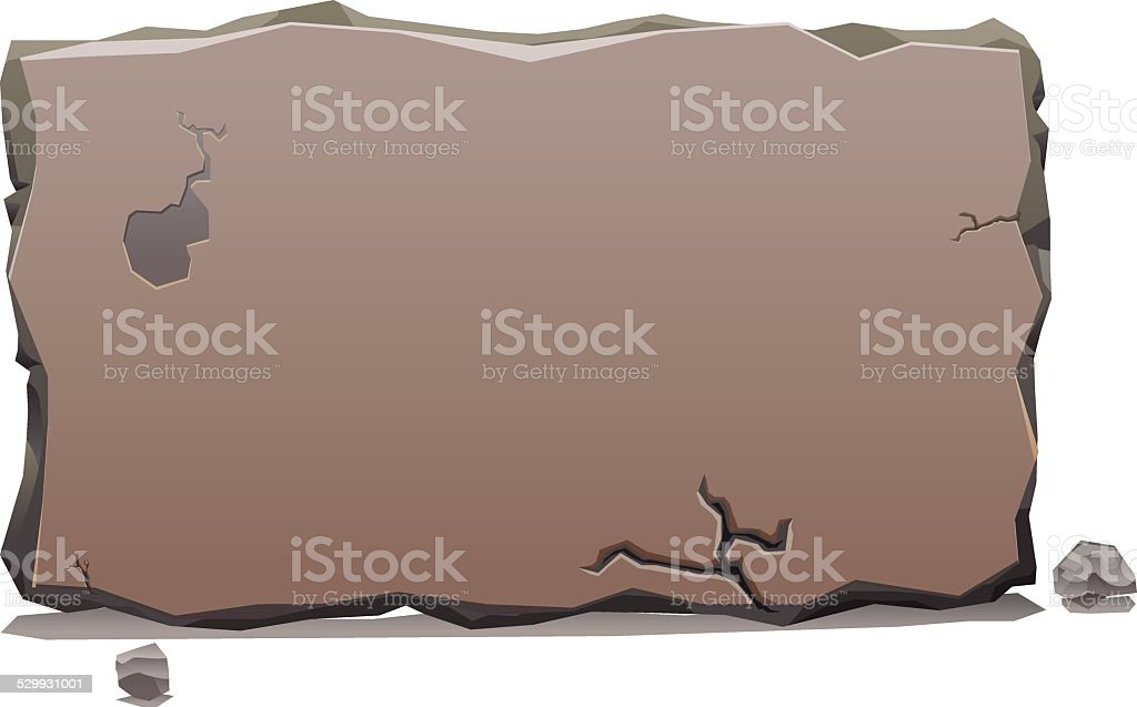 Stone Slab banner vector vector art illustration
