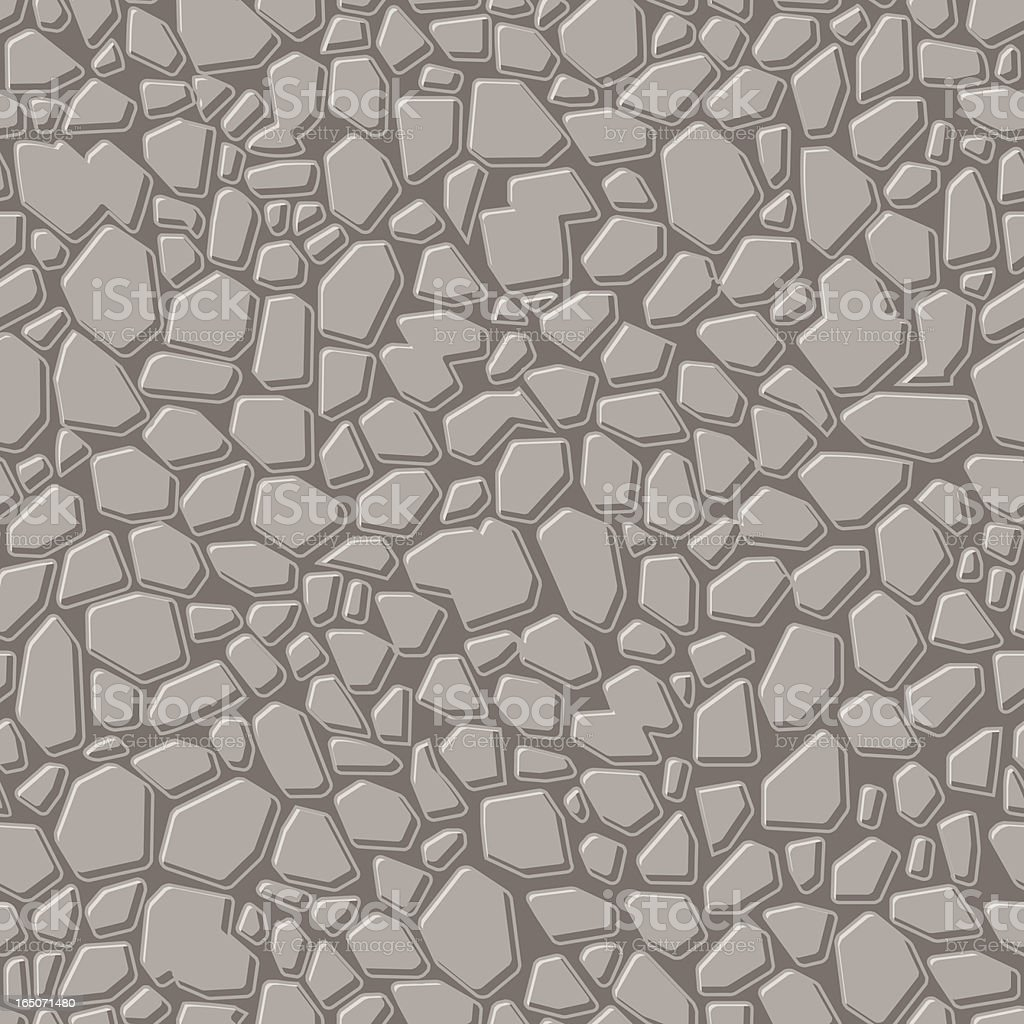 Stone texture illustration with various shapes and sizes vector art illustration