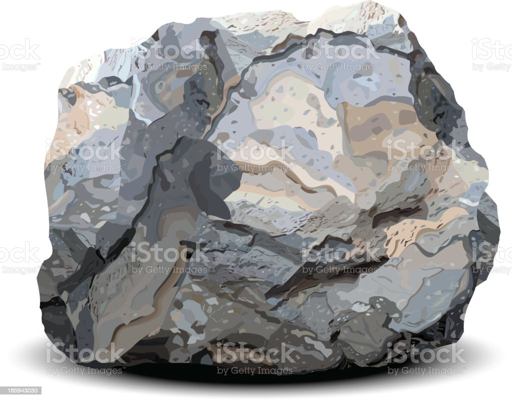 Stone vector art illustration