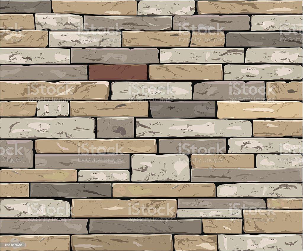 Stone wall royalty-free stock vector art